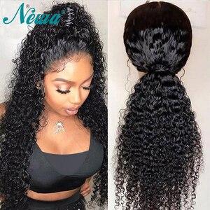 Image 2 - Newa שיער תחרה קדמי שיער טבעי פאות מראש קטף ברזילאי מתולתל תחרה מול פאות לנשים שחורות 13x6 רמי פאות עם תינוק שיער