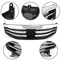 Areyourshop Radiator Bumper Grille Front Upper Chrome Grille For Honda Accord 2011 2012 Car Front Upper Grille Accessories Parts