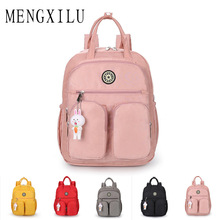 цена Hot Sale School Bags for Women 2019 High Quality Nylon Soft Handle Solid Multi-pocket Travel Zipper Mochila Feminina Sac A Dos