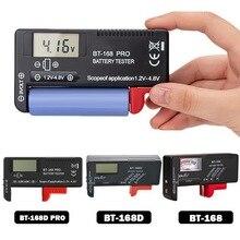BT-168 PRO Digital Battery Capacity Tester Checker For AA AAA C D 9V 1.5V Button Cell Batteries BT168 Power Universal Tester