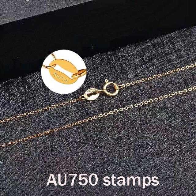 Xf800 multa jóias au750 18k amarelo pingente colar 100% natural pérola gargantilhas colar forma redonda melhor presente para o amante n03 4