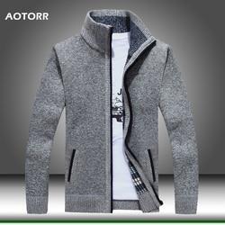Pull pour hommes veste en laine épaisse avec fausse fourrure, manteaux en tricot de marque 3XL, fermeture éclair, collection 2020, printemps-hiver pull décontracté