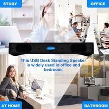 Portable Stereo Bass Sound USB Soundbar External Computer PC Speaker Laptop Cable USB For Desktop With A6U1