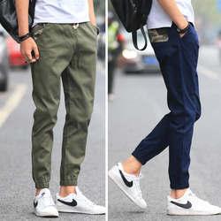 Casual Hosen Männer der Sommer 2019 Neue Stil Capri Hosen Korean-stil Trend Dünne MÄNNER Hosen Slim Fit Sport harem Hosen