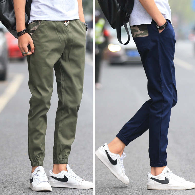 Casual Pants Men's Summer 2019 New Style Capri Pants Korean-style Trend Skinny MEN'S Pants Slim Fit Sports Harem Pants