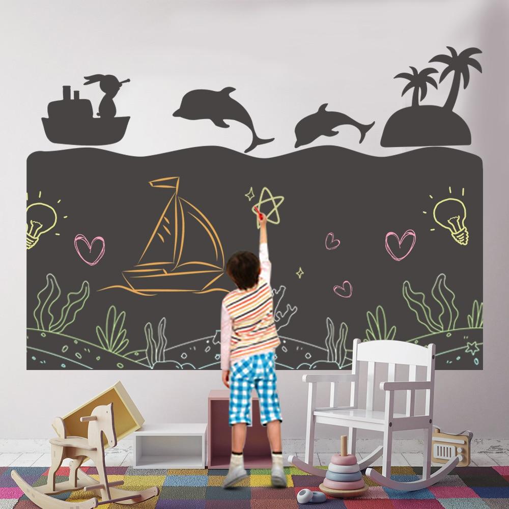 criancas criativas criancas brinquedos de papel de desenho diy pintura escrita doodle blackboard decoracao da parede