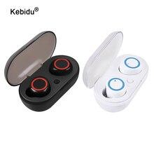 TWS Bluetooth 5.0 אוזניות סטריאו בס אוזניות עם מיקרופון אלחוטי אמיתי מיני נייד טלפון ספורט אוזניות לxiaomi iPhone