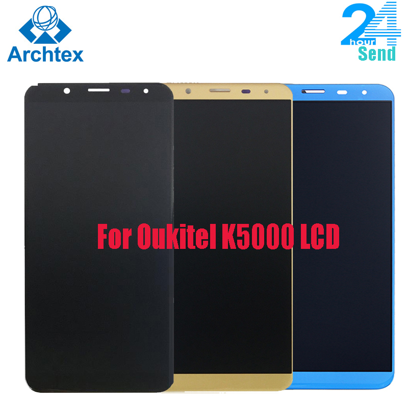 For 100% Original <font><b>Oukitel</b></font> <font><b>K5000</b></font> LCD Display+Touch <font><b>Screen</b></font> Assembly Tested LCD Digitizer Glass Panel Replacement 5.7 inch image