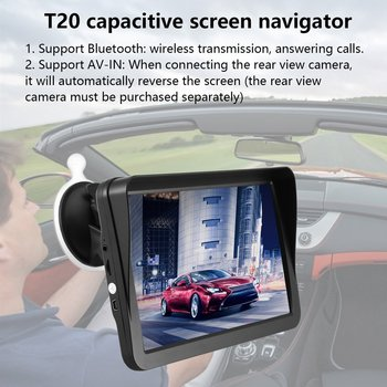 T20 Capacitive Screen Navigator Hd Car Gps Navigation Fm Wireless Avin Navitel Satellite Navigation Gps Navigator Car фото