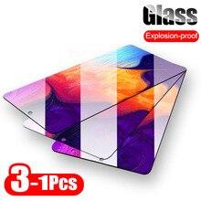 3 1 peças de vidro protetor para samsung galaxy a50 a51 a30 a20 a60 protetor de tela para samsung a40 a70 a80 a90 a10 vidro temperado