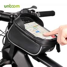 Untoom Regendicht Waterdicht Mountainbike Zak Fiets Voorframe Top Tube Bag MTB 6.0 inch Touch Screen Mobiele Telefoon Fiets case
