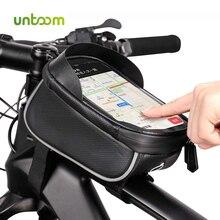 Untoom Yağmur Geçirmez Su Geçirmez Dağ Bisiklet Çantası Bisiklet Ön Çerçeve Üst tüp çanta MTB 6.0 inç dokunmatik ekranlı cep telefonu Bisiklet Çantası