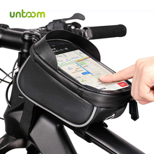 Untoom אטים לגשם עמיד למים אופני הרי תיק אופניים שפתוחה מסגרת תיק צינור העליון MTB 6.0 אינץ מסך מגע נייד טלפון אופניים מקרה