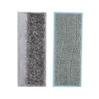 2 pçs almofadas molhadas & almofadas secas lavável e reutilizáveis esfregando almofadas para irobot brava jet m6 (6110) robô mop