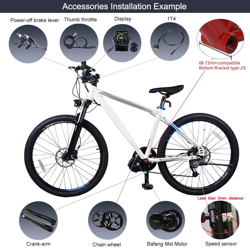 Image 5 - EU Stock NO TAX ! Bafang 36V 350W Bike Electric Conversion Kits 8Fun BBS01B Mid Drive Motor Bicycle Central Engine BBS01Electric Bicycle Motor   -