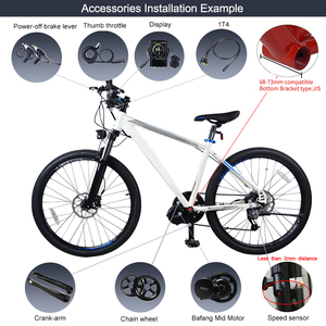 Image 5 - EU Stock NO TAX ! Bafang 36V 350W Bike Electric Conversion Kits 8Fun BBS01B Mid Drive Motor Bicycle Central Engine BBS01