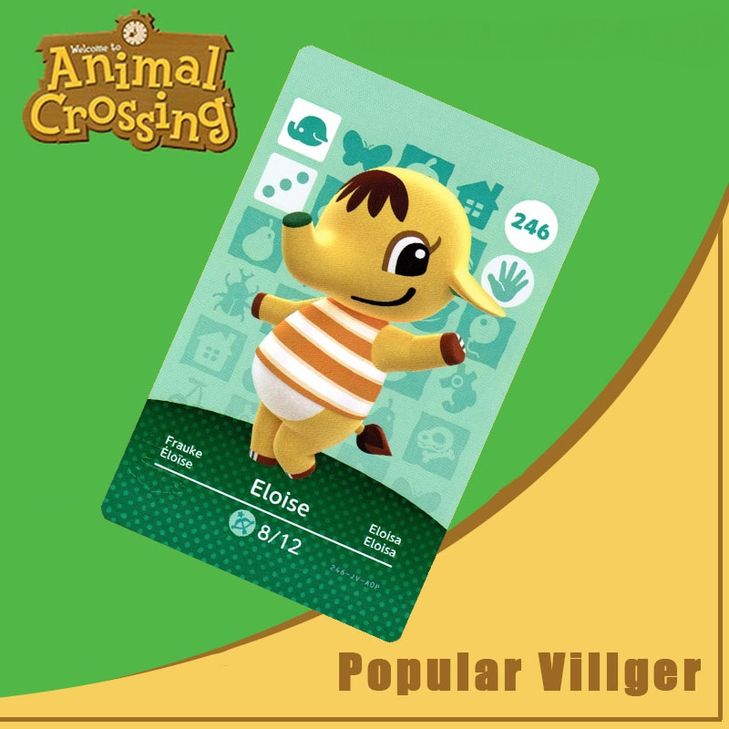 246 Animal Crossing Amiibo Card Eloise Amiibo Card Animal Crossing Series 3 Eloise Nfc Card Work For Ns Games Dropshipping