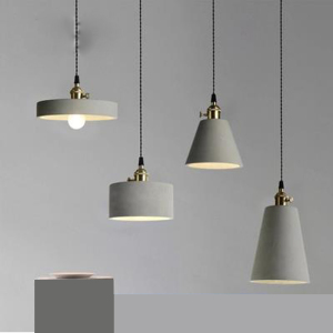 Image 2 - Straight cylinder cement chandelier lampshade silicone mold restaurant bar concrete gypsum resin pendent lamp handicraft mold