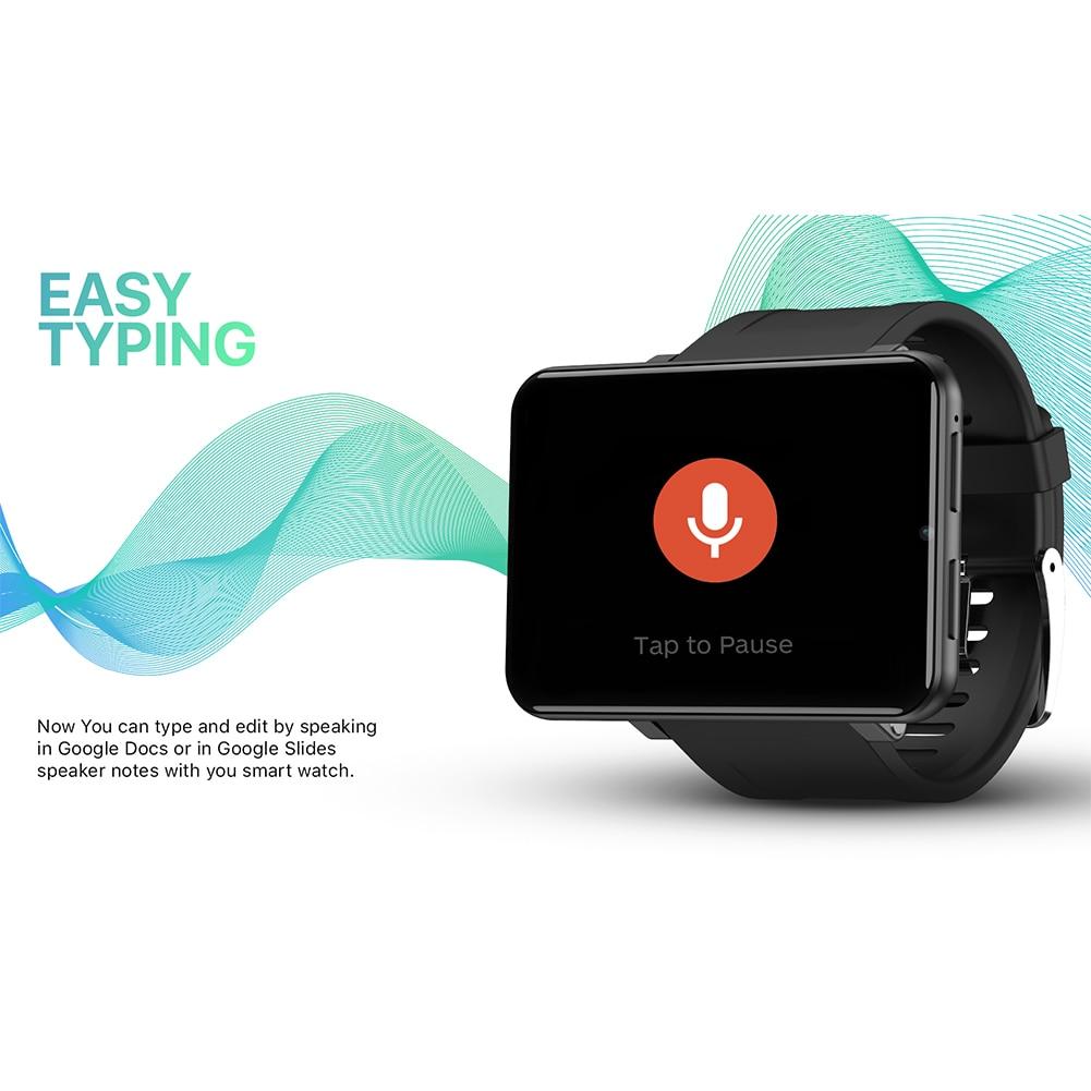 LEMFO LEMT 4G montre intelligente 2.8 pouces grand écran 2700 MAH 5MP caméra GPS prendre appels fréquence cardiaque jeu montre pour Mode Multi Sport