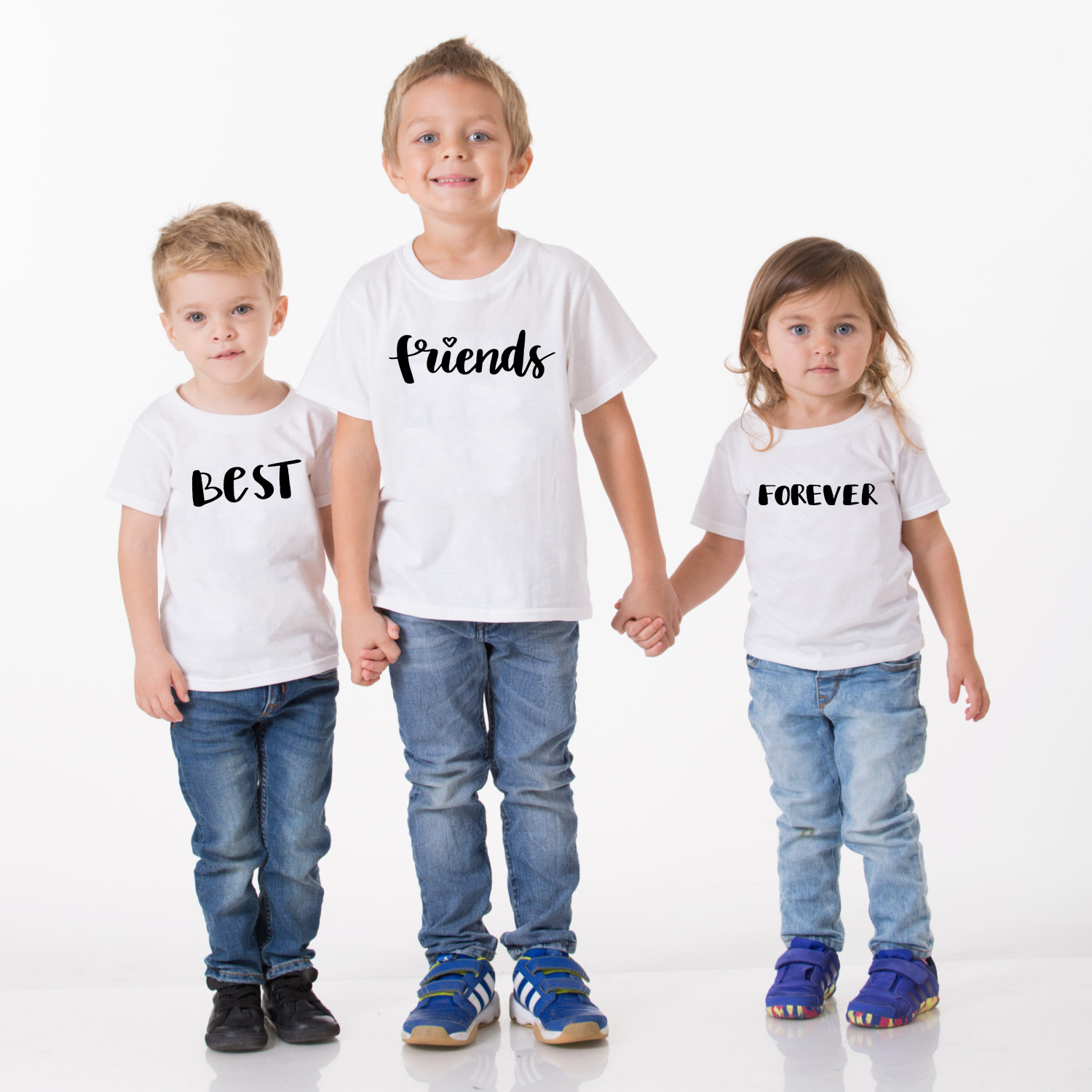 <font><b>Best</b></font> <font><b>Friends</b></font> Forever <font><b>Kids</b></font> Summer T-<font><b>shirt</b></font> Sister Brothers Festival Clothing Short Sleeve <font><b>Kids</b></font> Senior Casual Funny Costume image