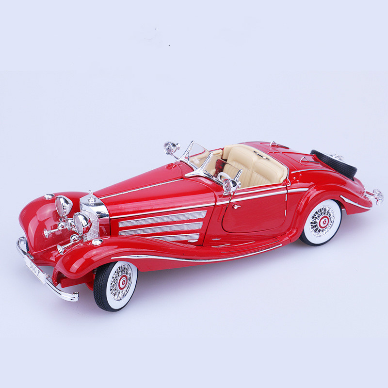 <font><b>1</b></font>/<font><b>18</b></font> 500k Diecast Model Cars Static Simulation Metal Car Miniatures <font><b>Voiture</b></font> Collection Toys Vintage Mini Car Decoration For Home image