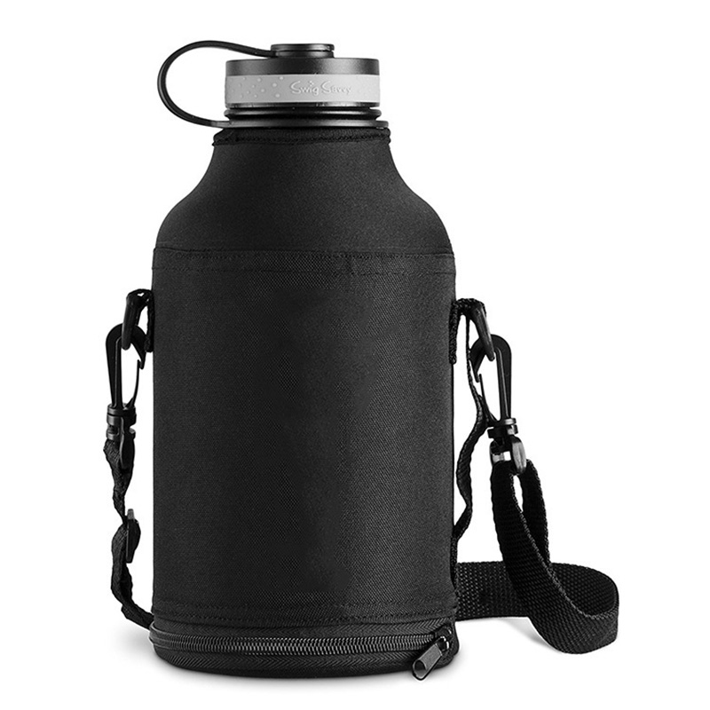 64oz Outdoor Water Bottle With Bag Stainless Steel Vacuum Healthy Sport <font><b>Drinking</b></font> Kettle Camping Bottle BPA Free Flask 3 image