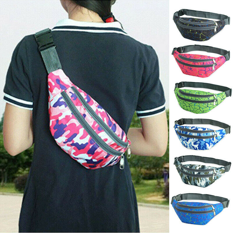 2020 Hot Travel BUM Bag Bumbag Waist Money Belt Passport Wallet Zipped Security Pouch Bag Camouflage Waist Packs Fashion