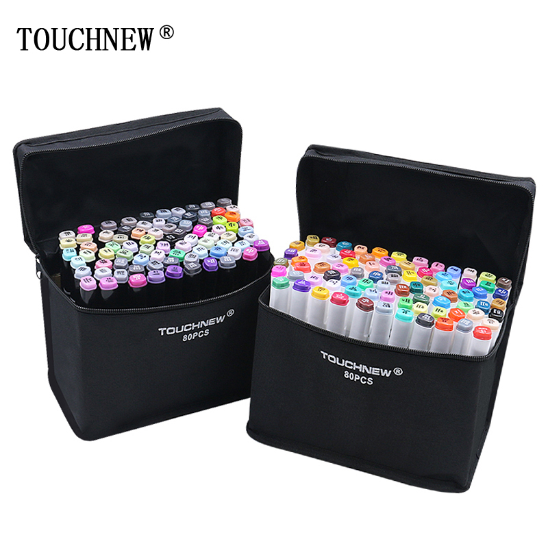 TouchNew Markers for tegning Alkohol Markers Double Head Sketch Marker for Sketchingt Maling Blender Supplies