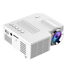 Mini Portable Video Projector LED WiFi Projector UC28C 1080P Video Home Cinema Movie Game Cinema Office Video Projector white