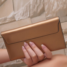 MZORNAGE 2019 New Genuine Leather Women Wallet Long thin Purse Cowhide Multiple Cards Holder Clutch Bags Fashion Standard Wallet 3157 fashion women wallet leather small crossbody bags girls purse multiple cards holder phone pocket female standard wallets