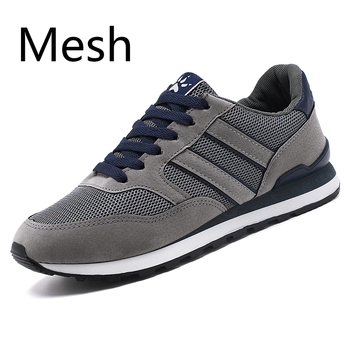 2020 artificial Leather Men Causal Shoes Male Spring Men Casual Light Shoes Sneakers Lac-up Flats Breathable Outdoors Sapato - MeshGray, 39