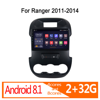 autoradio android auto 2 32G for Ford Ranger 2011 2012 2013 2014 car radio coche audio navigator DVD multimedia stereo bluetooth image