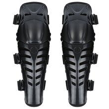 Motorcycle roller skating anti-fall knee pads according to the bending degree of knee PE rubber shell Double layer paste 1 pair cheap Impact EVA black red black