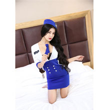 Cosplay Sex Uniform Stewardess Sexy Lingerie Erotische Uniform Rollenspel Sexy Lingerie Dres Bdsm Sexy Verpleegster Costum Voor sex(China)