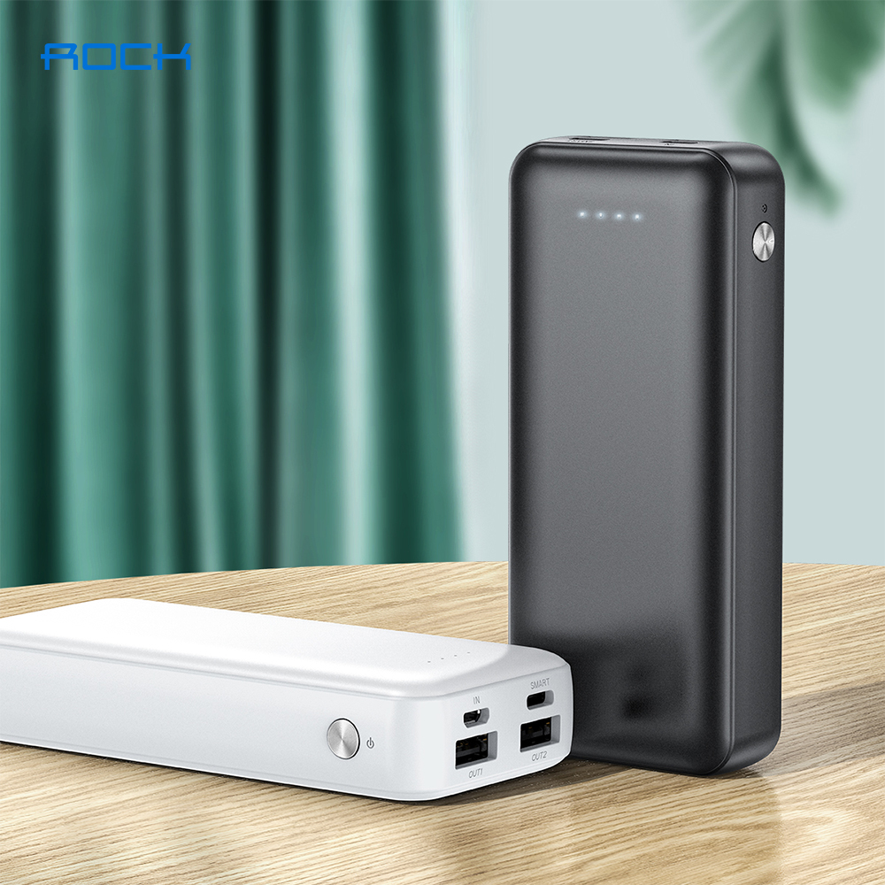 ROCK 10000mAh Power Bank For iPhone Samsung Xiaomi Type C Powerbank Portable External Battery Fast Charging Charger Poverbank|Power Bank|   - AliExpress