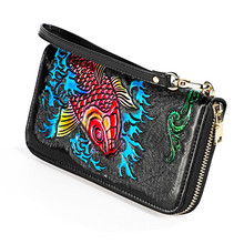 woman wallet leather genuine purse female large capacity women