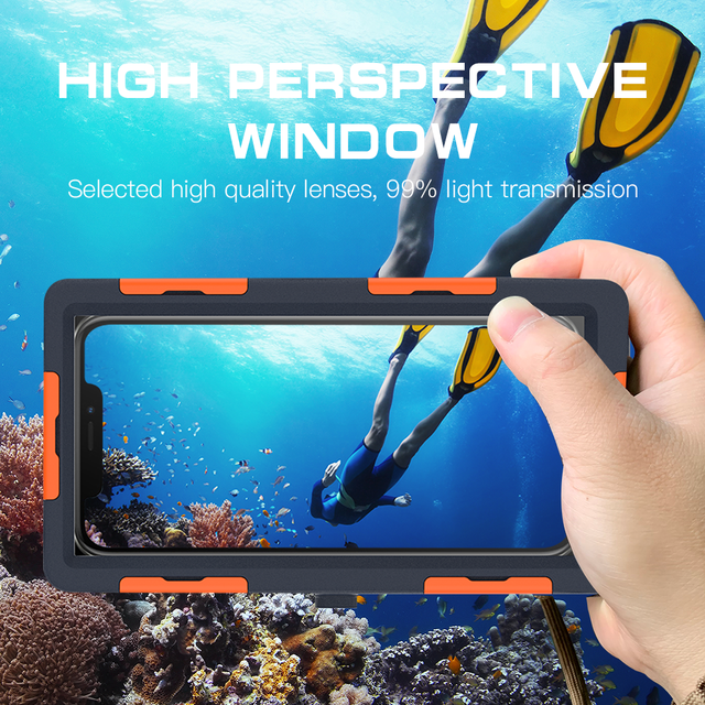 Professional Diving Phone Case For iPhone 6 6S 7 8 Plus Coque 15M Waterproof Depth Cover For iPhone 11 Pro Max X XR XS Max Cases 2