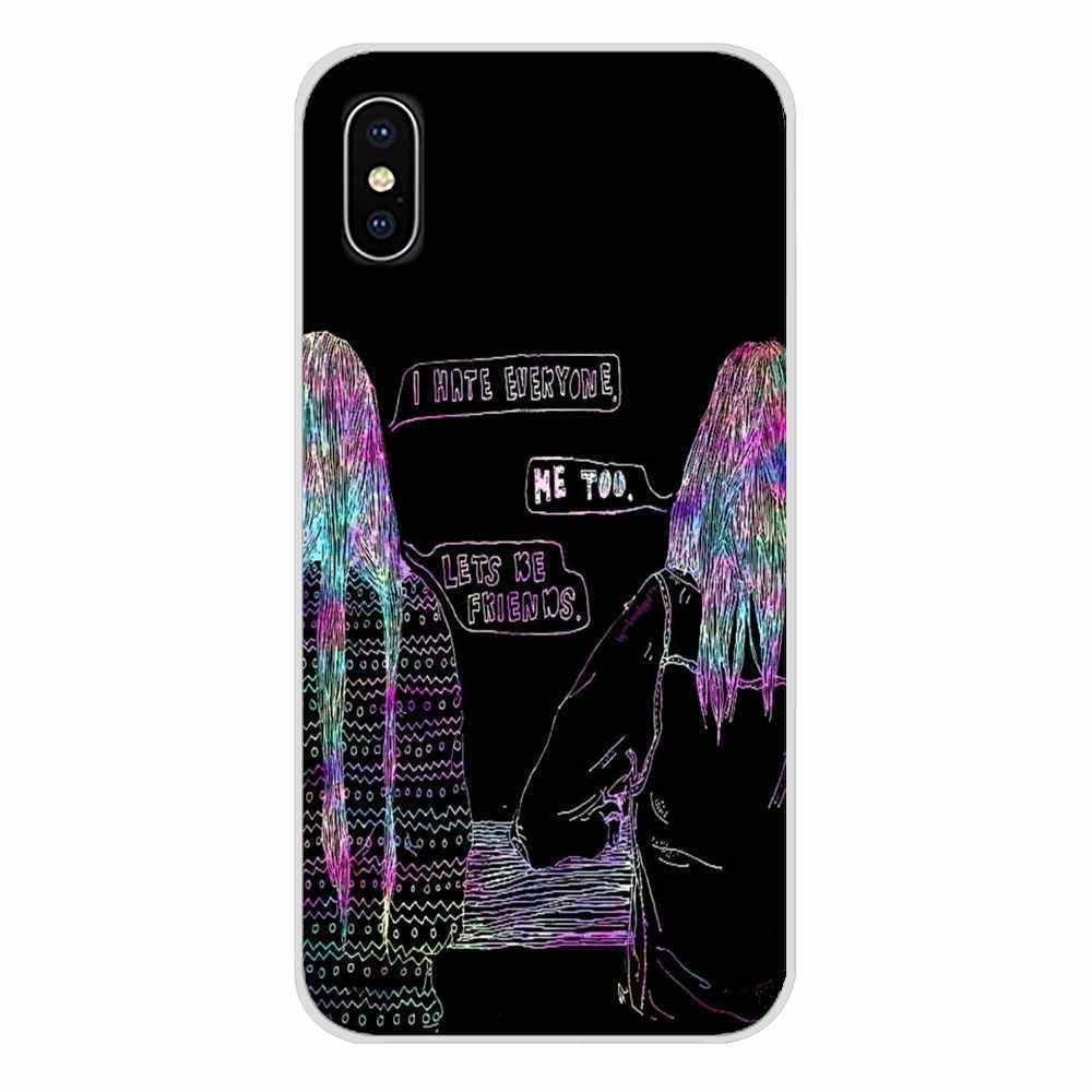 サムスン A10 A30 A40 A50 A60 A70 銀河 S2 注 2 3 グランドコアプライムアクセサリー電話ケースハッピー親友カード BFF 携帯