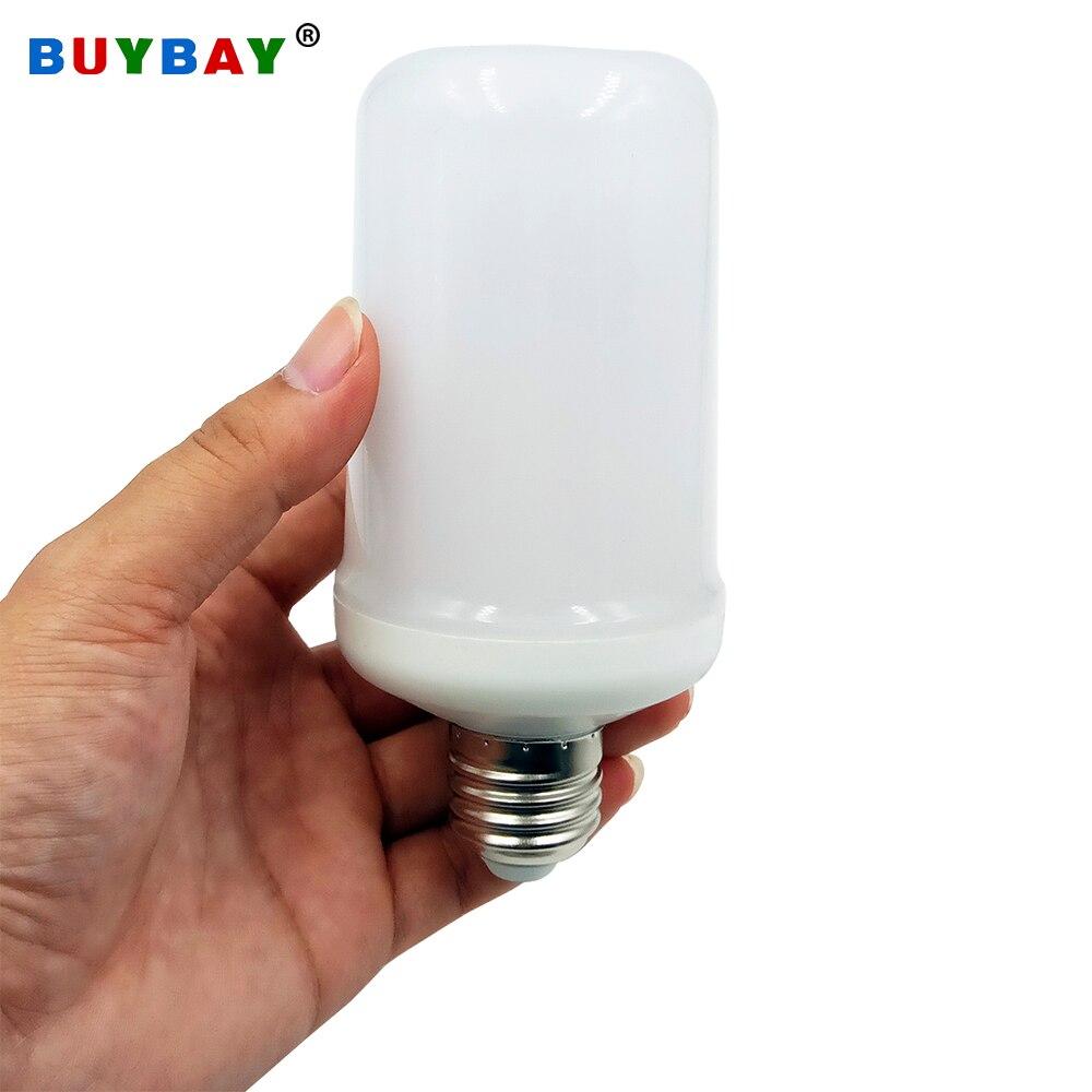 Only Flame Mode E26 B22 E27 E14 E12 LED Lamp Flame Effect Fire Light Bulb Holiday Decoration Flame Bulb AC85-265V/DC12V