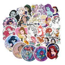 100pcs Round Beautiful Princess Cartoon Sticker For Kids font b Toy b font Luggage Skateboard font
