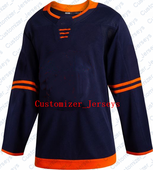 Connor McDavid Leon Draisaitl Ryan Nugent-Hopkins Milan Lucic Darnell Nurse Cam Talbot 2019-20 Pro Alternate Navy Hockey Jersey