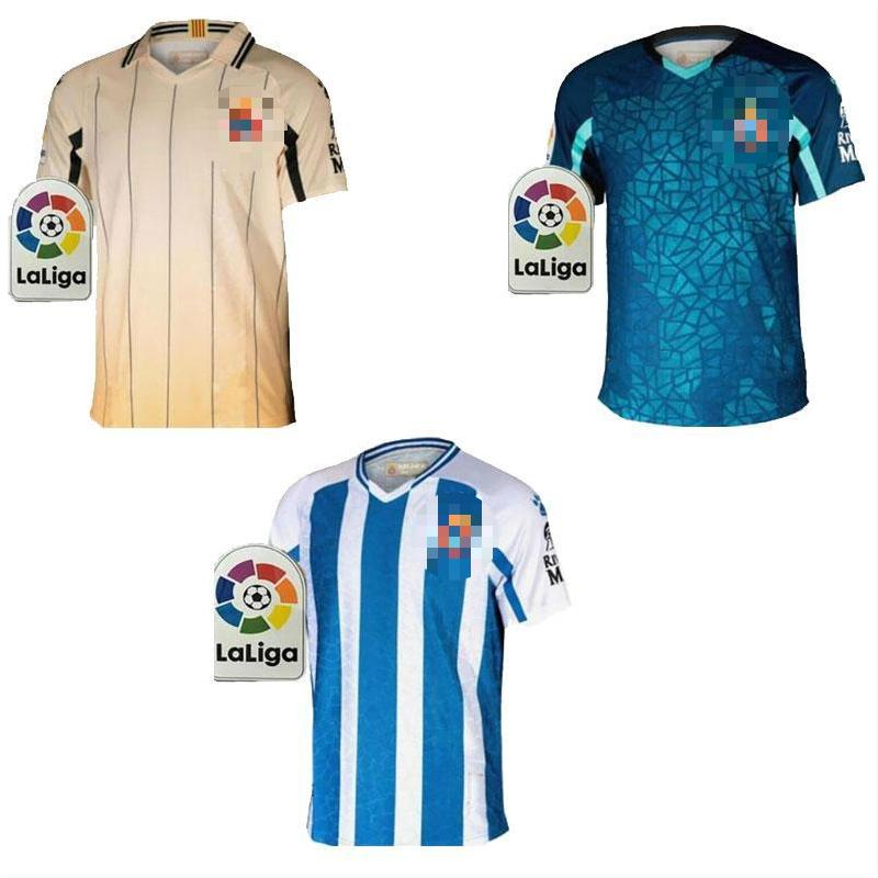 2021 RCD Espanyol #7 WU LEI Soccer Jerseys Home PEDROSA DAVID LÓPEZ R.D.T Away Football Shirt Uniforms