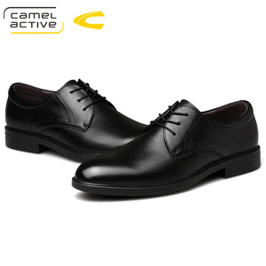 Image 2 - Camel Active New Business Wedding Dress Shoes England Genuine Leather Shoes Soft Leather Shoes Men Elegant Derby Casual Shoes