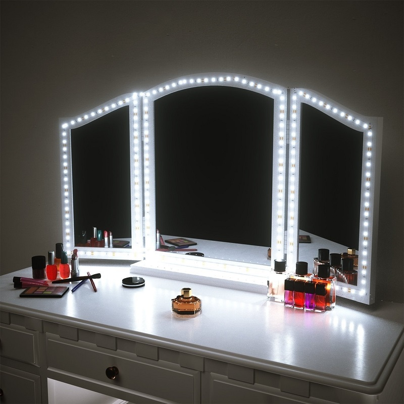 3M Vanity Makeup Mirror Lamp Led Light Strip 5V USB LED Flexible Tape Led Dressing Table Mirror Lamp Decor Bathroom Light Strip