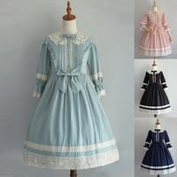 Women Vintage Retro Lacework Half Sleeve Princess Dress Girls Plus Size Elegant Court Style Alice Lolita Dress Cosplay Clothes