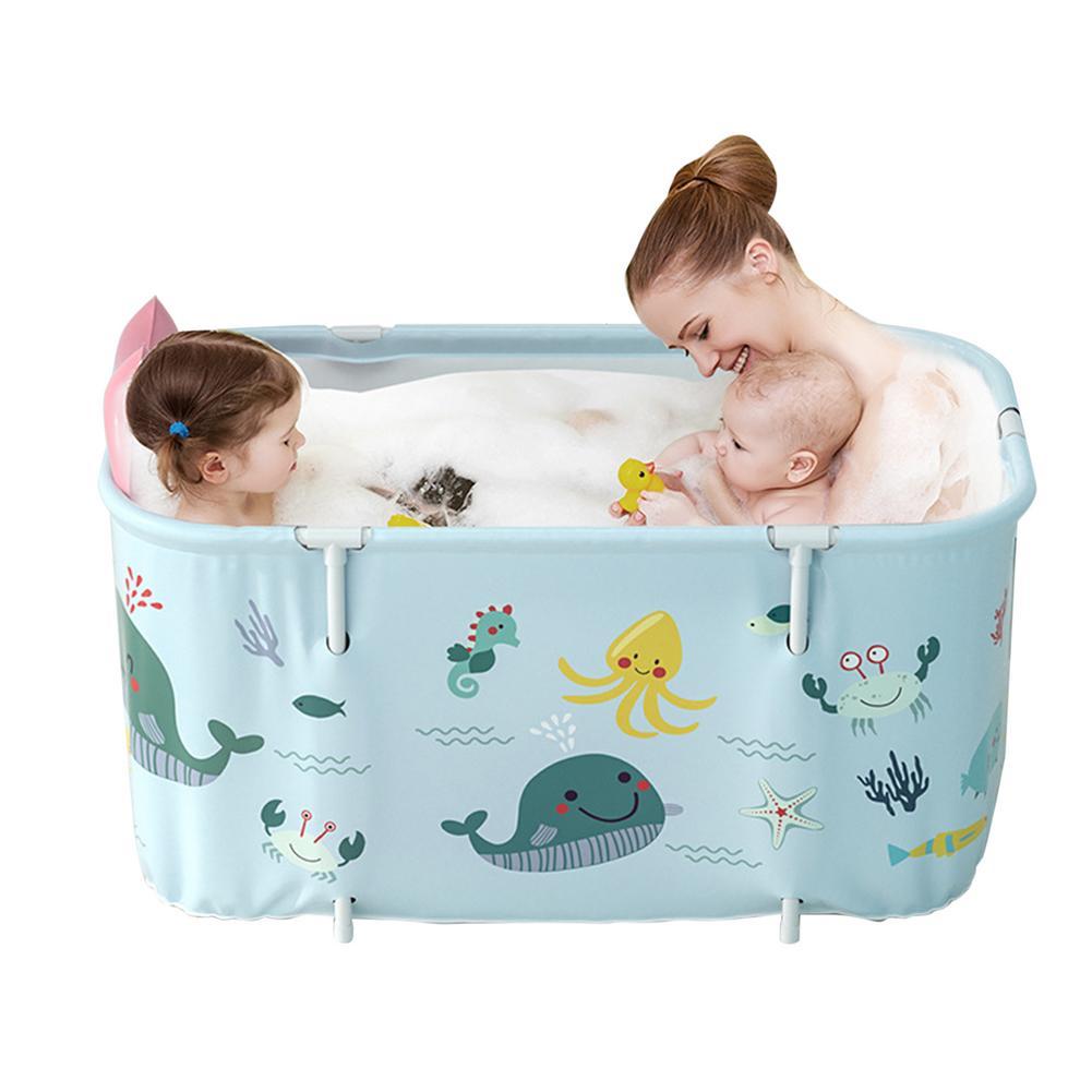 Banheira exterior não inflável portátil do agregado familiar da banheira de dobramento para adultos e crianças-3