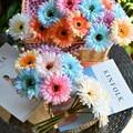 3 шт. цветы искусственные цветы шелковая ткань герберы Свадебные рукоять с цветочным рисунком вечерние украшения цветок для дома и офиса