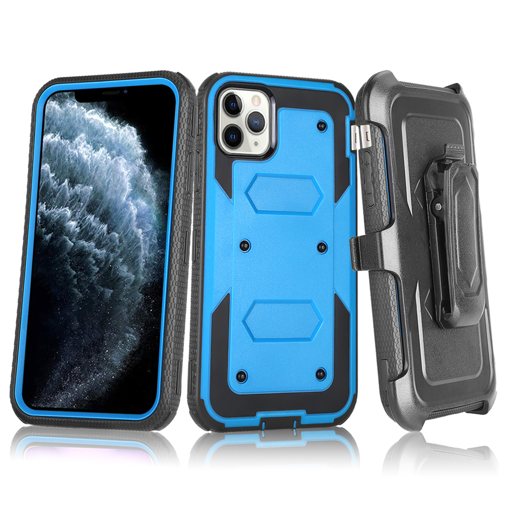 Heavy Duty Protection TPU+PC Shockproof Phone Case For iPhone 11 Pro XS Max XR 7 8 6 6S Plus X Belt Clip Hard armor Back Cover