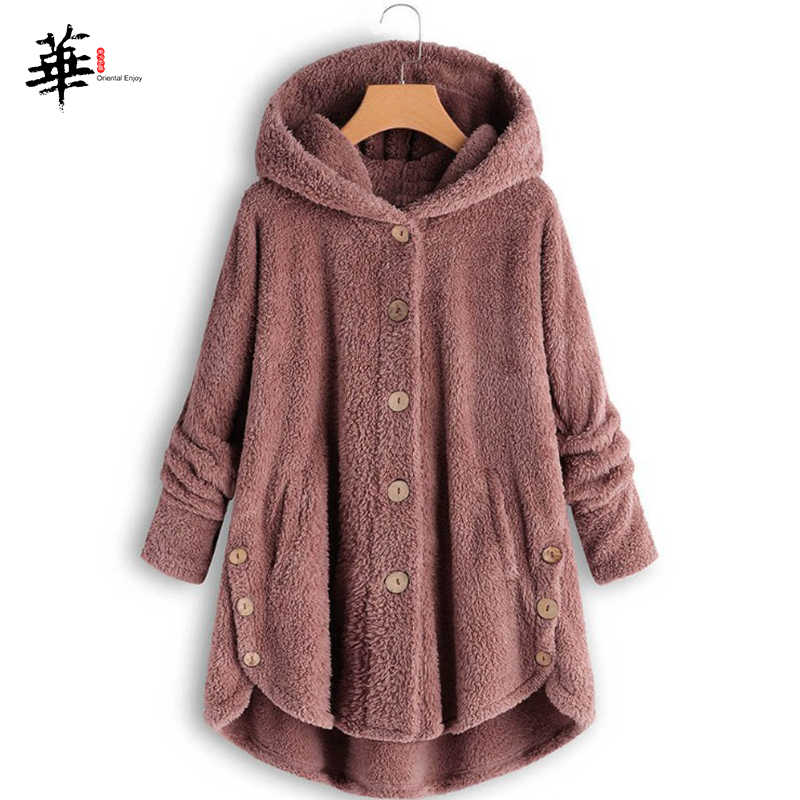 Hooded Outwear Winter Long Sleeve Single Breasted Front and Sides Loose Modal Streetwear Asymmetric Women's Long Coat Clothes