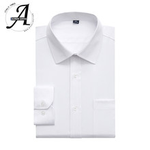 9xl 레귤러 피트 화이트 셔츠 남성용 긴팔 캐주얼 셔츠 2019 brand new casual men shirts 6xl camisas manga larga masculina(China)